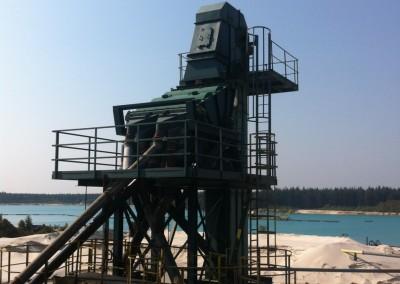 Zeefmachine boven drogerij - Zeldenrust