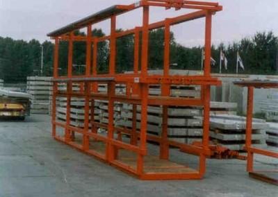 Gestapelde laadvloeren wandelementen beton - Heembeton